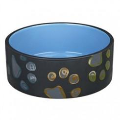 Keramik skål med poter, 1,5 liter