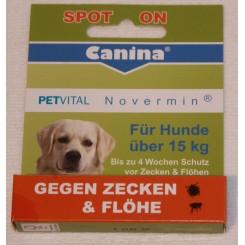 Novermin mod lopper og flåter (hunde over 15 kg)