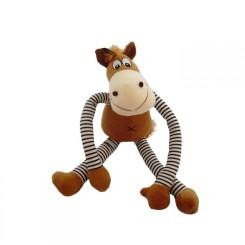 Hest med lange arme og ben.