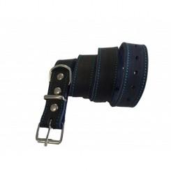 Soft læderhalsbånd i blå