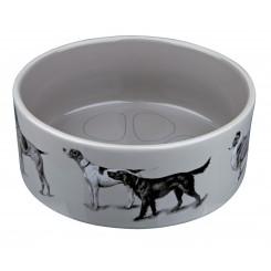 Keramik skål med hunde billeder. 1,2 liter