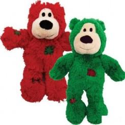 Julebamse i rød eller grøn