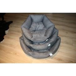 Krone hundeseng i grå, 3 størrelser
