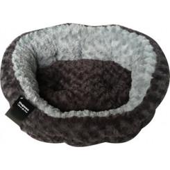 Bed Supersoft oval Sort/grå
