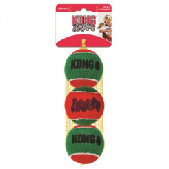 Tennisbolde i rød/grøn farve, 3 pak