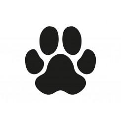 K-design Pawprint Black 7cm Sticker