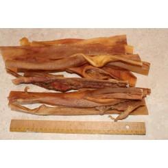 Okse hoved hud 500 gram, 30 cm